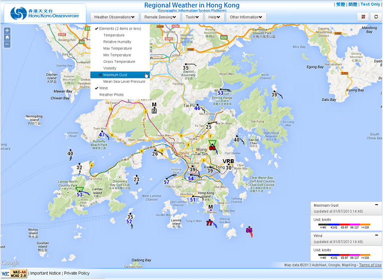 Hong Kong Weather Map.User Guide To The Regional Weather In Hong Kong Geographic